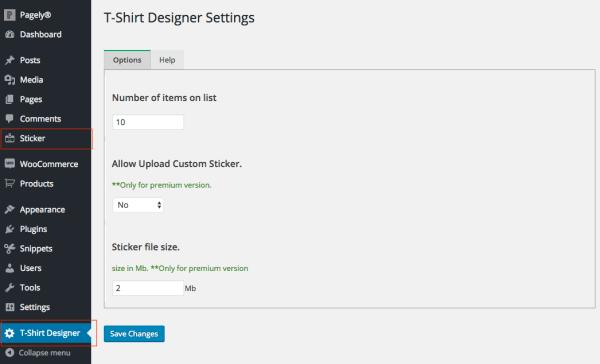 settings t-shirt designer