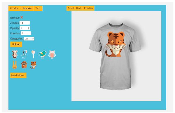 sticker t-shirt designer