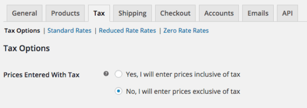 WooCommerce 2.6 Review: WooCommerce 2.6 tax settings