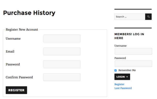 Easy Digital Downloads member logged out widget