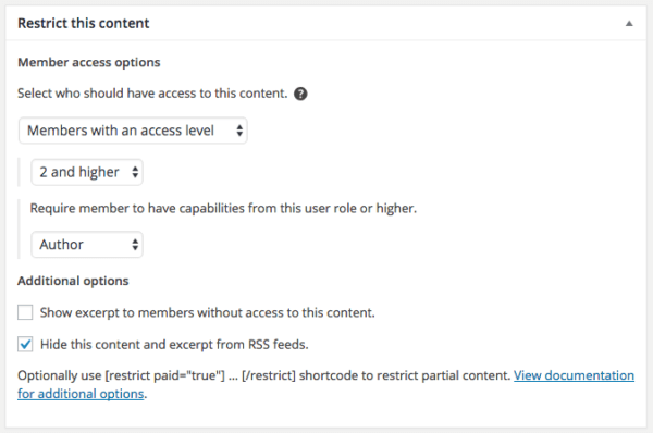 Restrict Content Pro 2.6 Review: RCP 2.6 access level restriction