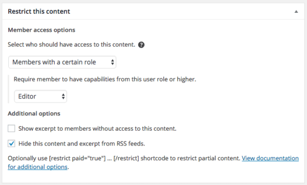 Restrict Content Pro 2.6 Review: RCP 2.6 role restriction