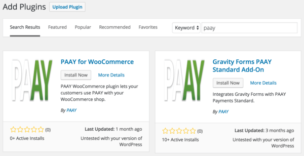 PAAY WordPress plugins