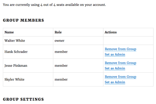 Restrict Content Pro Group Memberships: group full