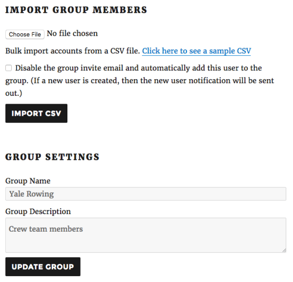 Restrict Content Pro Group Memberships: group options