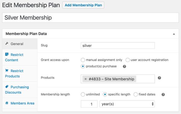 WooCommerce Memberships Payment Plans: SATT membership plan