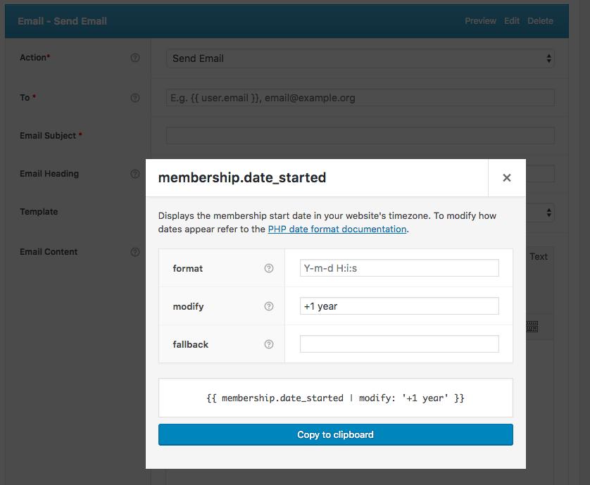 AutomateWoo Modify date format