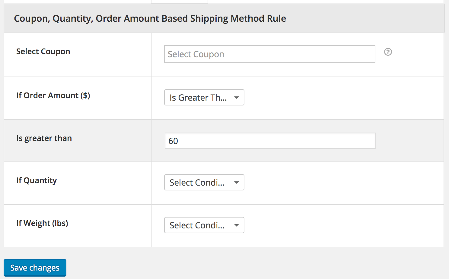 Advanced Flat Rate Shipping Review: order-based rules