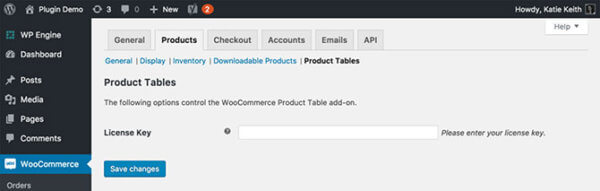 WooCommerce List View: settings