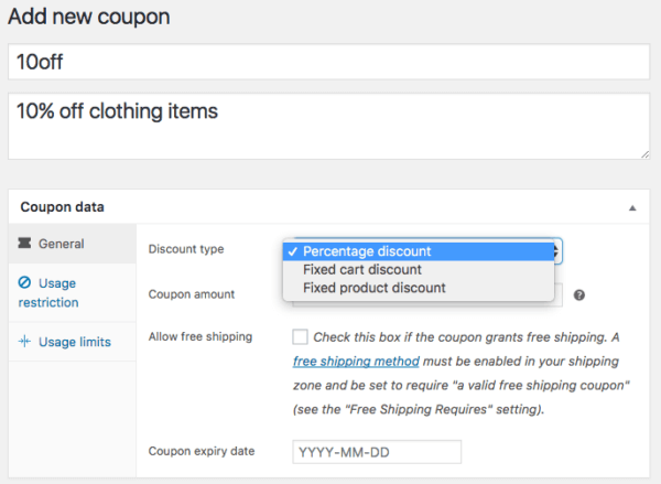 WooCommerce 3.0 Review: 3.0 coupon types