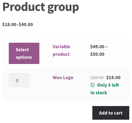 WooCommerce 3.0 Review: 3.0 grouped product frontend