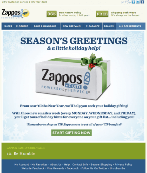 Zappos offer