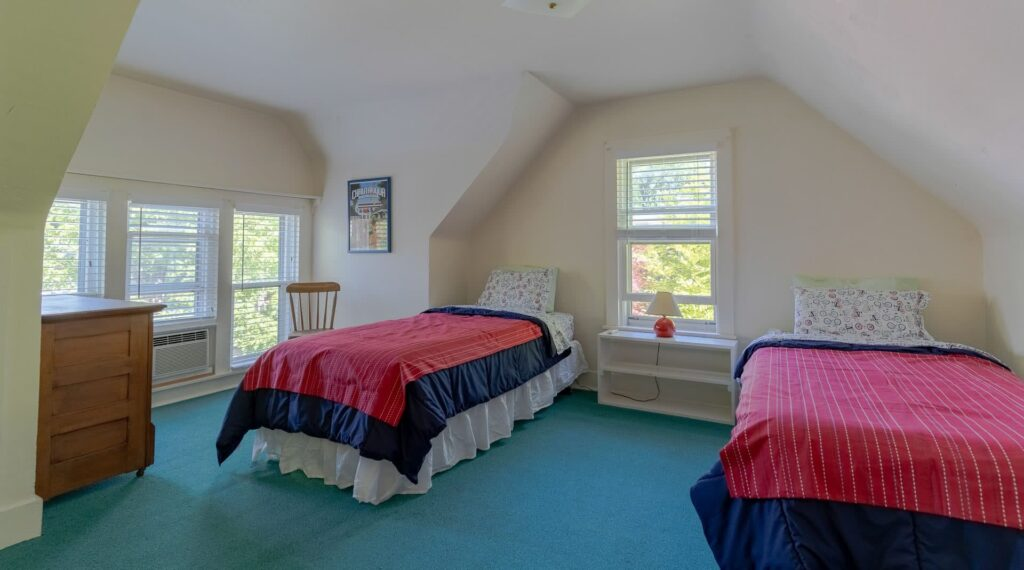 Accommodations at Quaker House at Chautauqua: Third Floor Room with Twin Beds