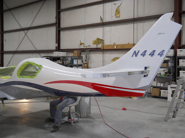 Steve Green Lancair Project painting
