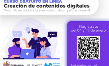 Invita Gobierno Municipal a curso de Creación de Contenidos Digitales