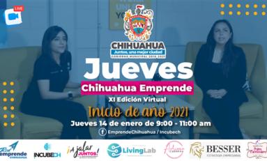 Invita Gobierno Municipal al Jueves Chihuahua Emprende Inicio de Año 2021