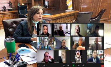 Participa alcaldesa María Angélica Granados en sesión virtual de COCENTRO