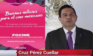 """Anuncia Senador Pérez Cuéllar que ya está listo el programa de """"Fomento al Cine Mexicano"""""""