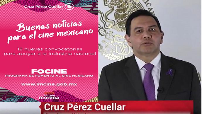 Anuncia Senador Pérez Cuéllar que ya está listo el programa de «Fomento al Cine Mexicano»
