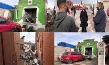 Protección Civil y Bomberos del Municipio brindan apoyo tras explosión en Villas del Real