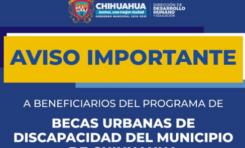 A partir del 16 de marzo iniciará pago a beneficiarios de Becas de Discapacidad 2021