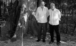 Evalúan AMLO y Slim avances del Tren Maya