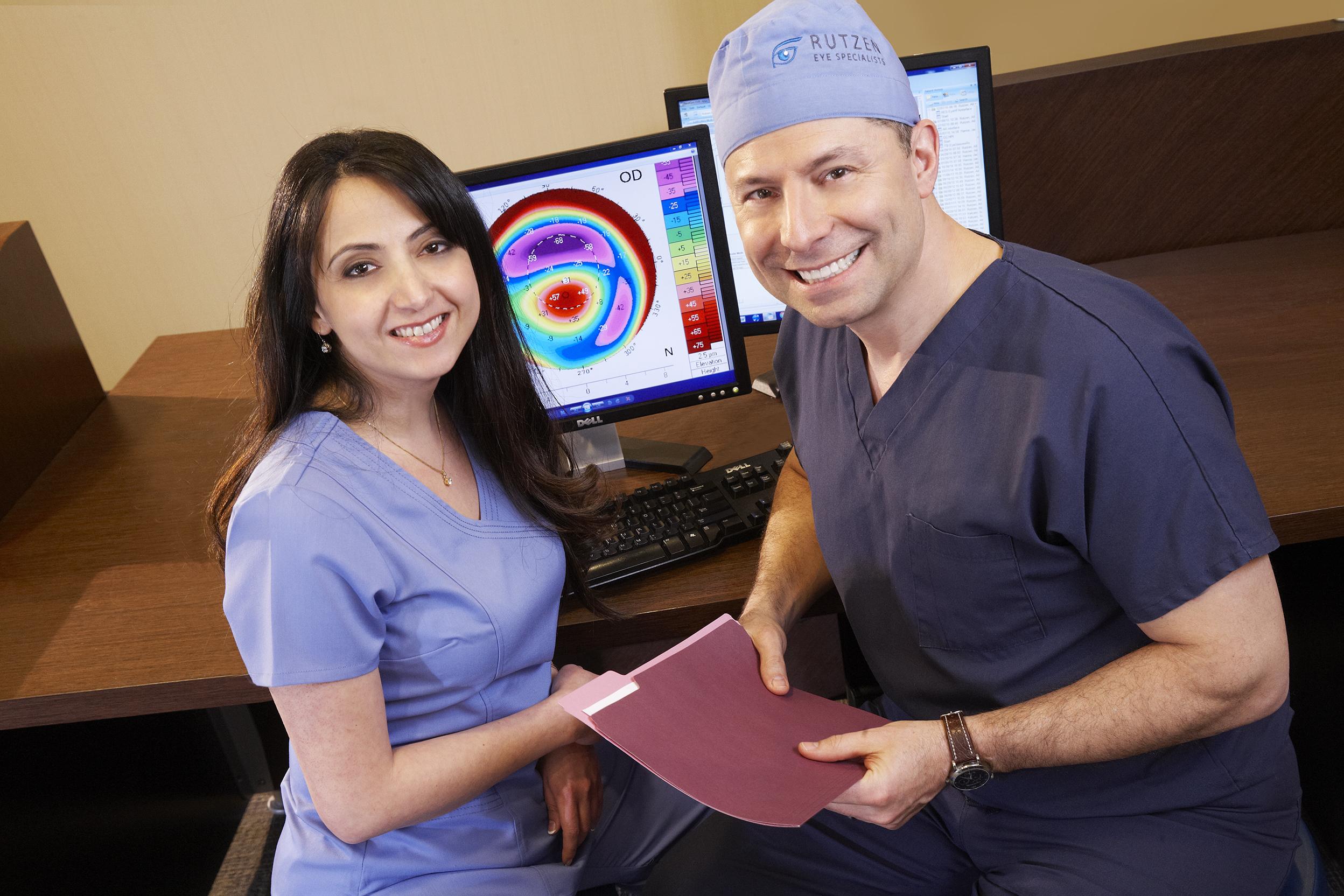cataract consultation older couple