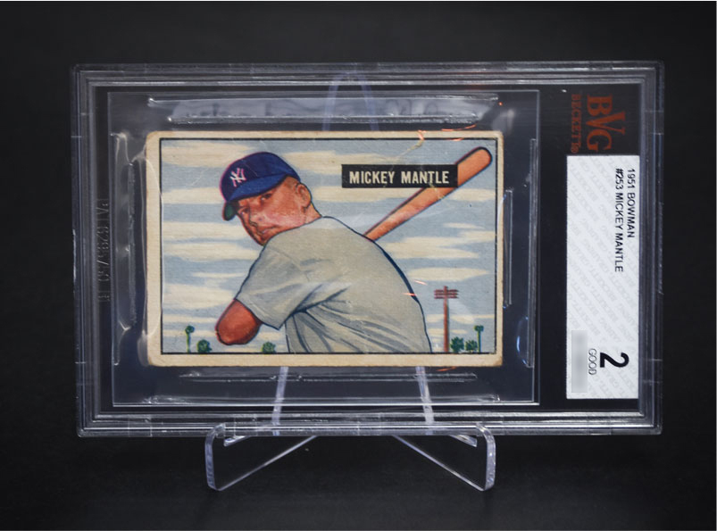 A Mickey Mantle sports card