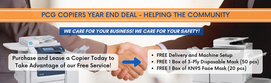 PCG Copiers Year End Deal - Helping the Community