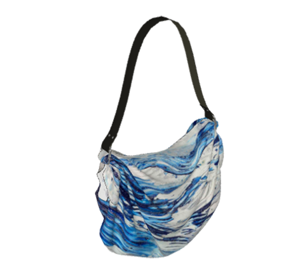 Blue Flow Origami Tote