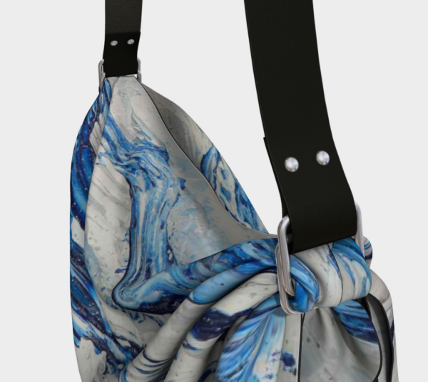 Blue Flow Origami tote detail