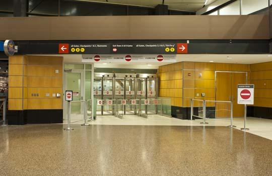 Port of Seattle SEATAC Security Exit Gates