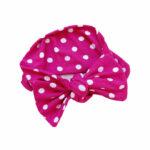 Cherise pink polka dots