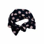 Black with nude polka dots