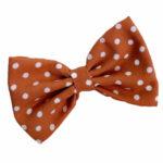 Tan with white polka dots