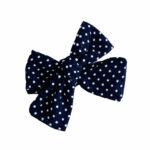 Navy polka dots