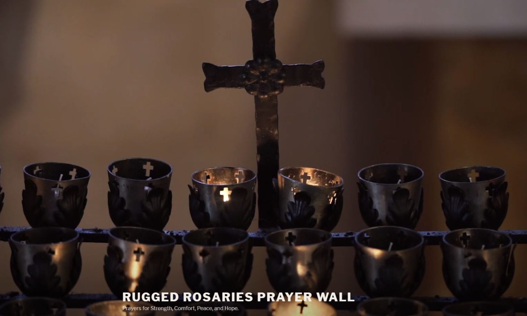 RUGGED ROSARIES Prayer wall