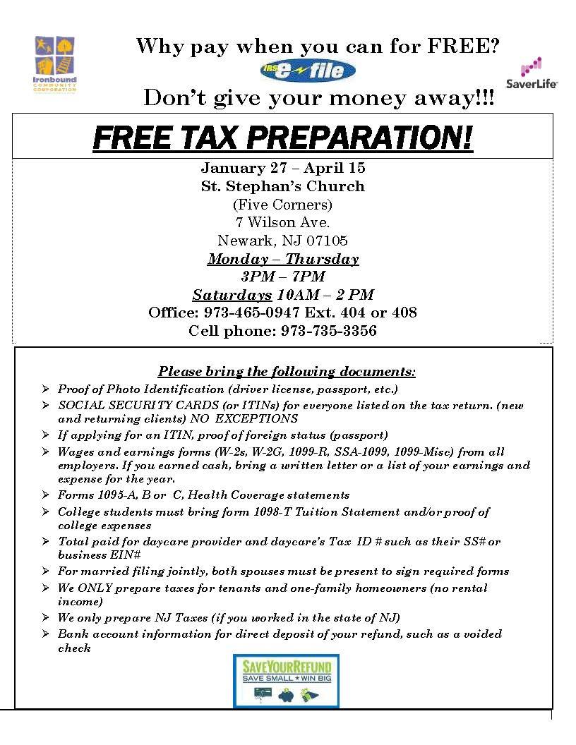 Tax Prep Assistance 2020