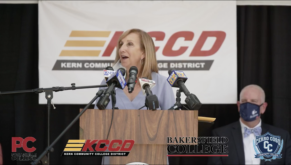 Marlene Heise, Spokesperson for the Kern Community College District's Chancellor Announcement