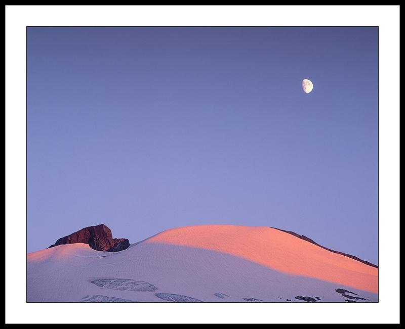 Moon over Mt Ruth - North Cascades National Park, Washington