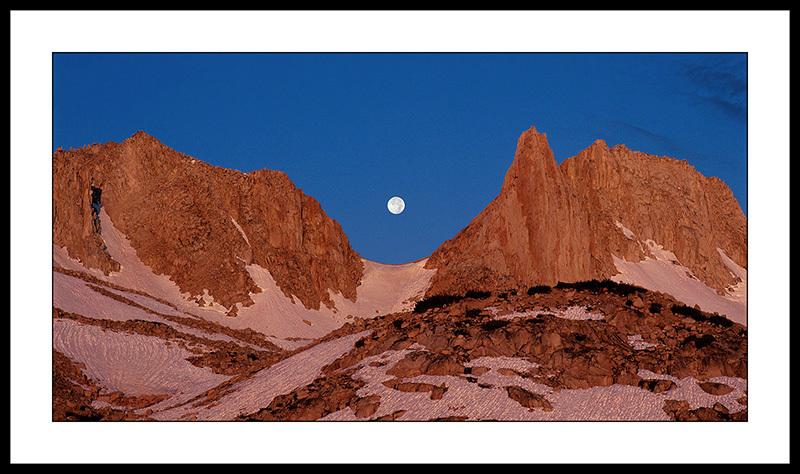 Full Moon and Royce Peak - Sierra Nevada, California