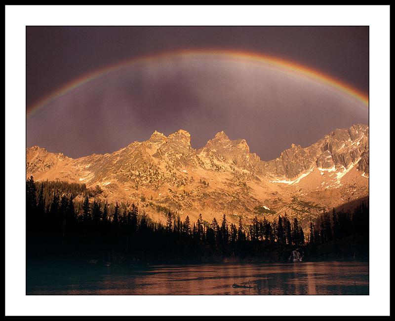 Rainbow Over Middle Cramer Lake - Sawtooth Mountains, Idaho