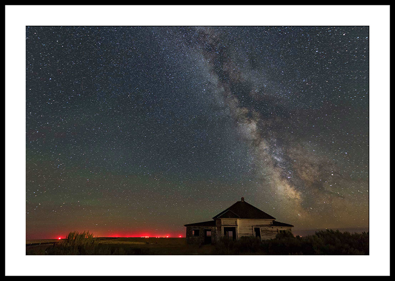 Milky Way and Haunted House - Night Sky Photography, Condon, Oregon
