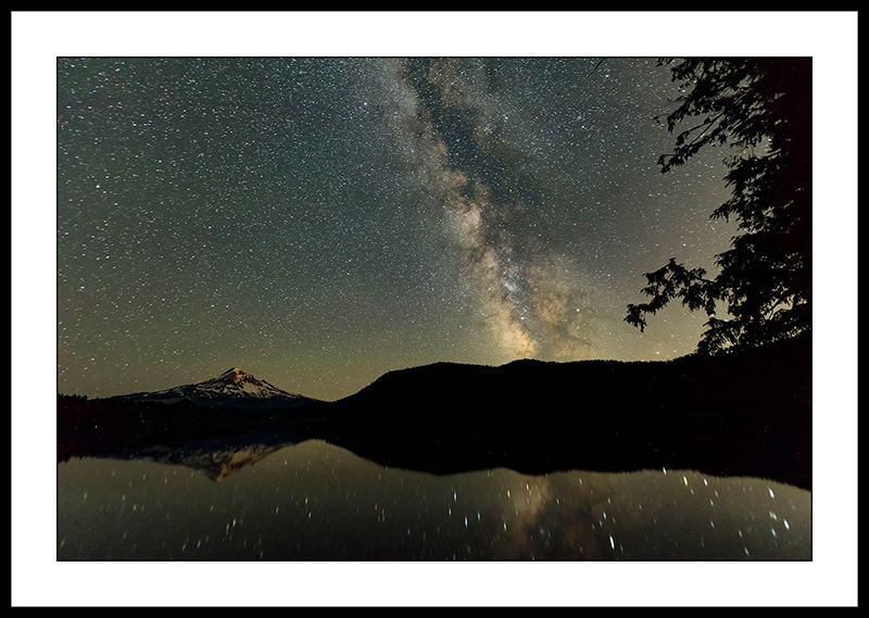 Milky Way with Lost Lake and Mt Hood - Night Sky Photography, Oregon
