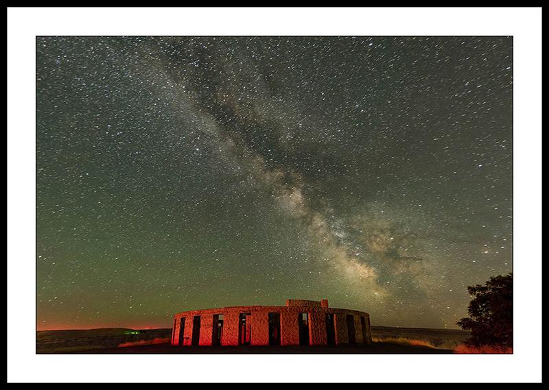 Milky Way Over Stonehenge Memorial - Night Sky Photography, Maryhill, Washington