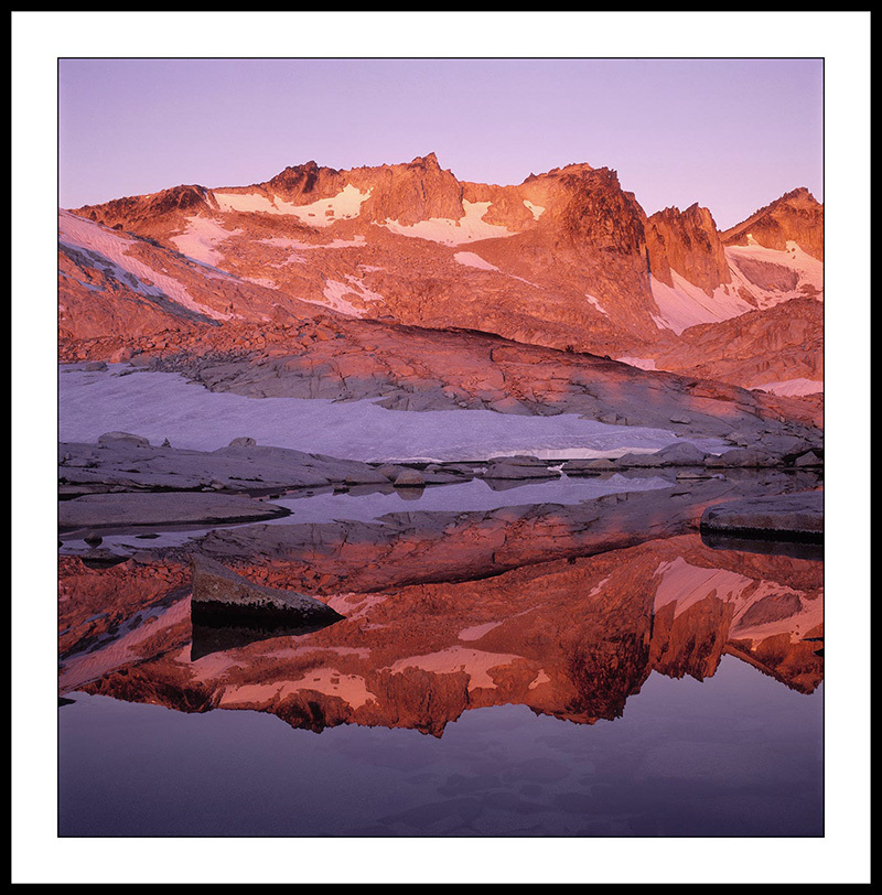 Isolation Lake  and Sunrise Reflection - The Enchantments Leavenworth, Washington