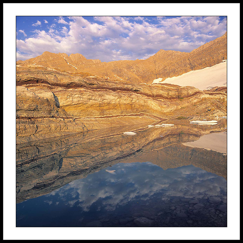 Gunsight Mountain from  Sperry Glacier Finger Lake - Glacier National Park, Montana