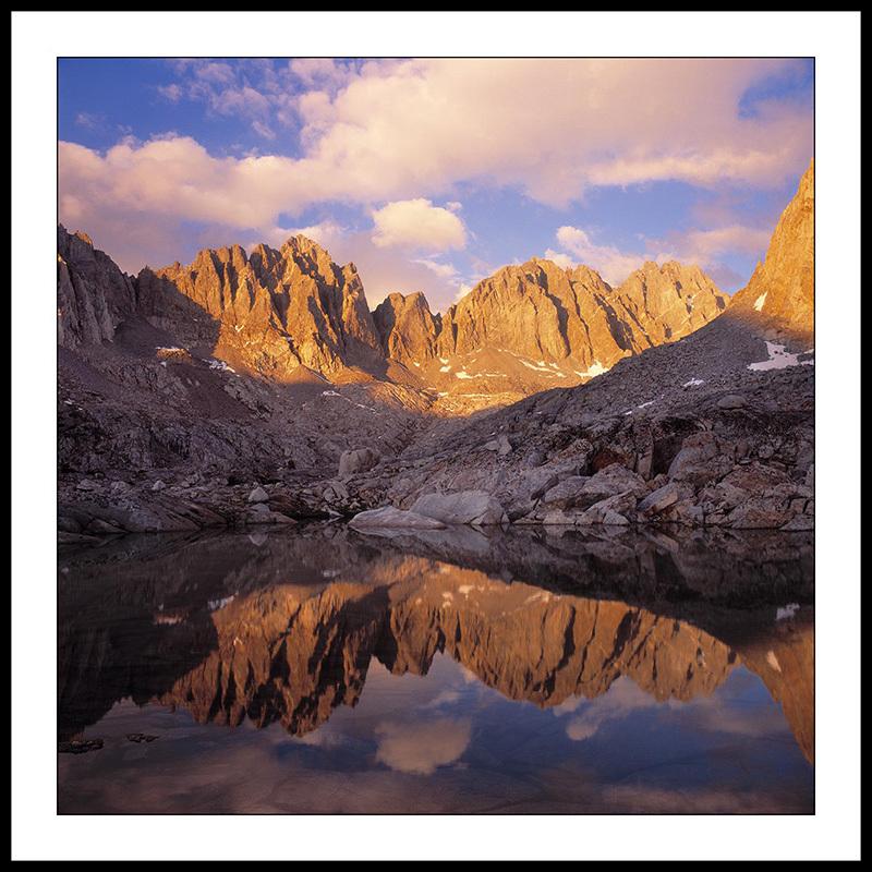 Dusy Basin with Mount Winchell and Thunderbolt Peak - John Muir Wilderness, Sierra Nevada,  California