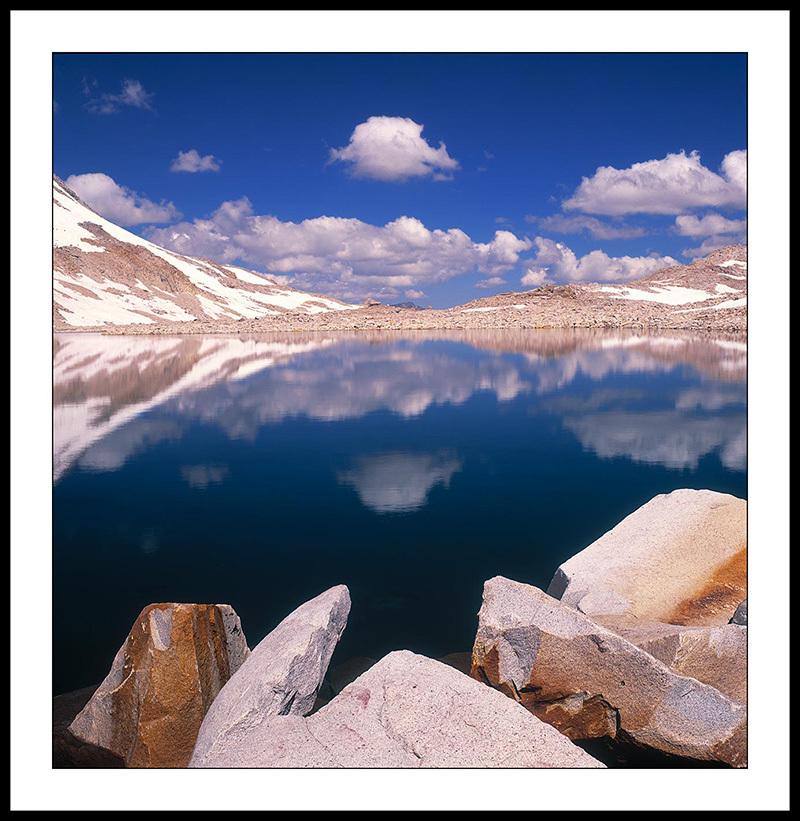 Muir Pass and  Unnamed Blue Lake - John Muir Trail, Sierra Nevada,  California