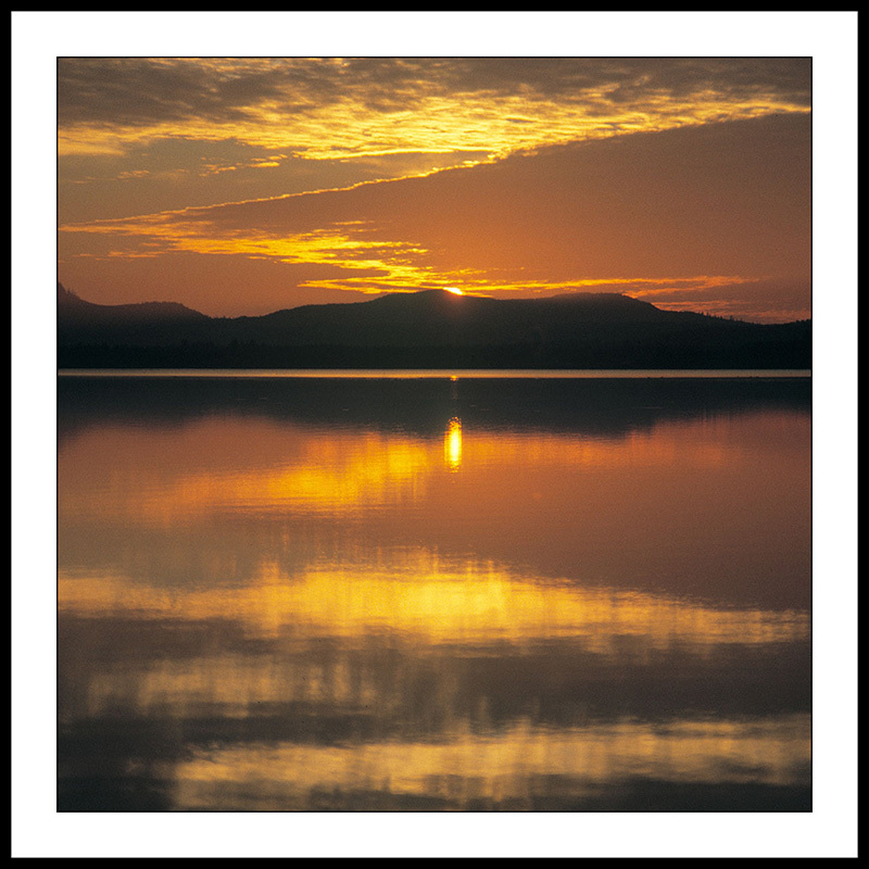 Sunset over Fern Ridge Reservoir - Veneta, Oregon